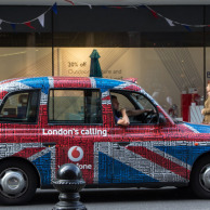 London cabs are more colorful than 46 years ago