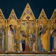 Crucifixion with Saints, Bernardo Daddi, Courtauld Gallery