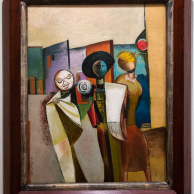 The Betrothal of the Matador, Wyndham Lewis, Courtauld Gallery