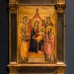 Virgin and Child with Two Saints and Two Angels, Artist unrecorded, Courtauld Gallery