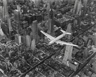 Margaret Bourke-White - A DC-4 Flying Over New York City