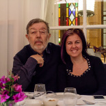 Ergun and Elif, Mina's birthday dinner at Ayna (mirror)
