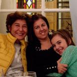 Emel joined the girls, Mina's birthday dinner at Ayna (mirror)
