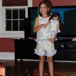 Mina and Grace in matching pajamas Elif made