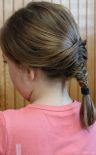 Elif braided Mina's hair, it's called fish tail