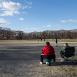 Baseball season is open in the play ground