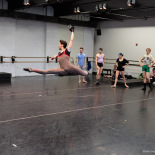 Flying around during the Peter Pan run through