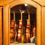 A violin cabinet