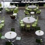The Atrium Was Ready For Serving Lunch
