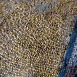 Hagia Sophia Gold Mosaic on Window Wall