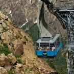 The other tram going up as we go down