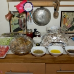 Preps in the kitchen