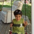 Aditya on the swing