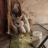 Making Soap, recycled shavings