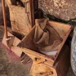 Making Soap, wooden buckets to carry sludge