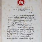 Facsimile of Ataturk's Handwritten Statement
