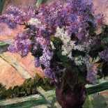 Mary Cassatt - Lilacs in a Window