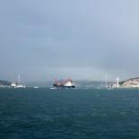 The Bosphorus Bridge far away