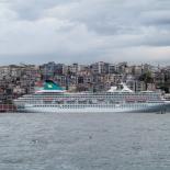 Cruise Ship, and Galata behind