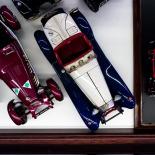 Museum display items, a set of Morgan car models