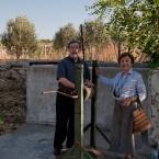 Ergun and Binnaz at the well