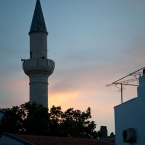 A small mosque visible from Yakamoz