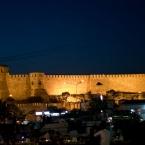 The castle illuminated