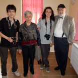 Binnaz and Cemal with the photographer students
