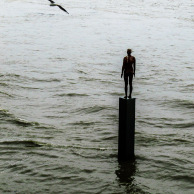 Man on Thames, Photo by Jan Ekin