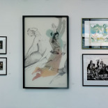 Exhibit Wall With Art