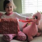 The pink dragon Santa remembered to bring