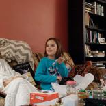 Mina opening more gifts