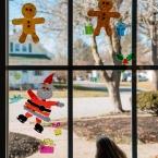 Mina likes these gummy figures on the window