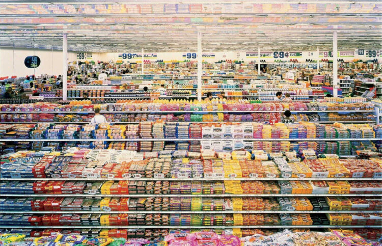 99 Cent II Diptychon (2001), Andreas Gursky
