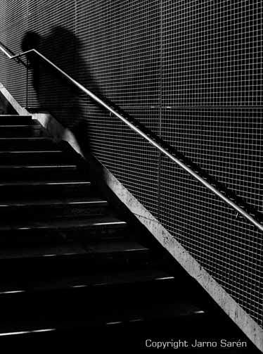Shadow and stairs both coming down
