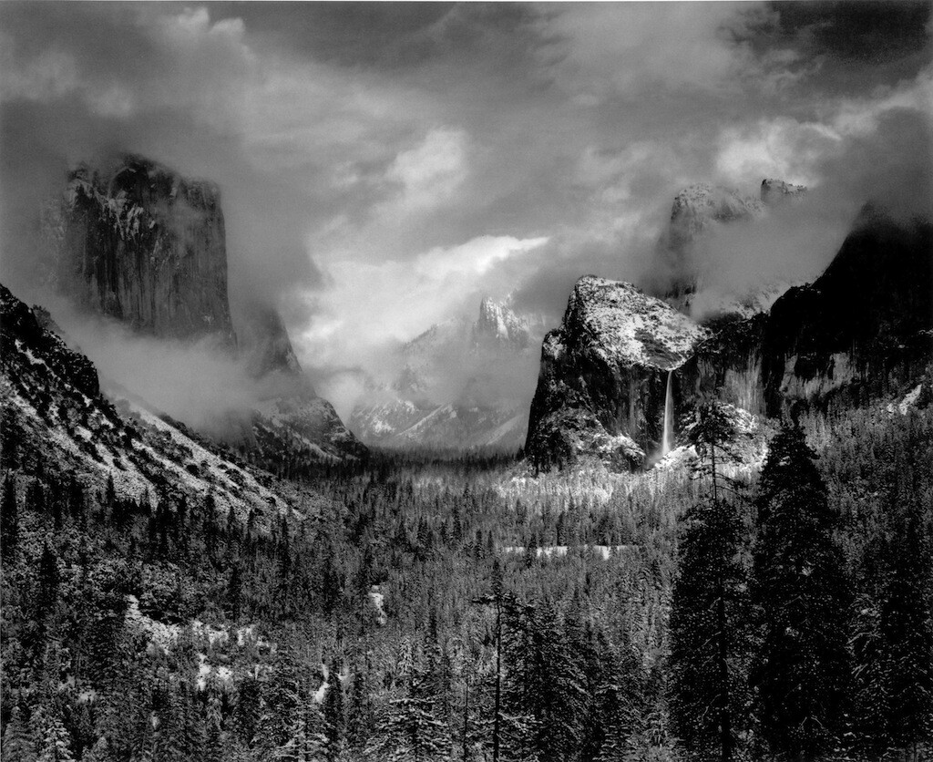 Ansel Adams, Clearing Winter Storm