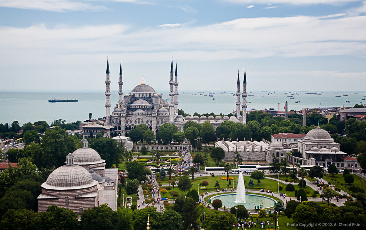Blue Mosque from the roof of Hagia Sophia