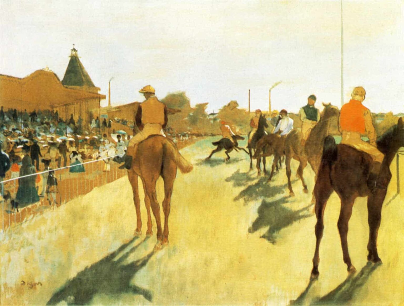 Horses Before Stand - Degas