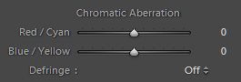 Chromatic Aberration Correction