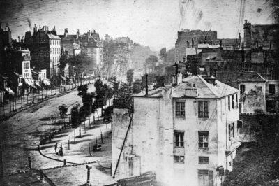 First Photograph of a Human - Daguerre-1838