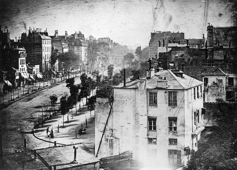 First Photograph of a Human - Daguerre-1838