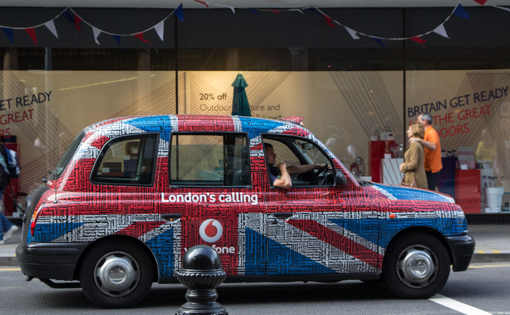 London cabs are more colorful than they were 46 years ago