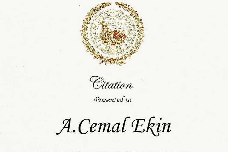 Cemal Ekin Citation
