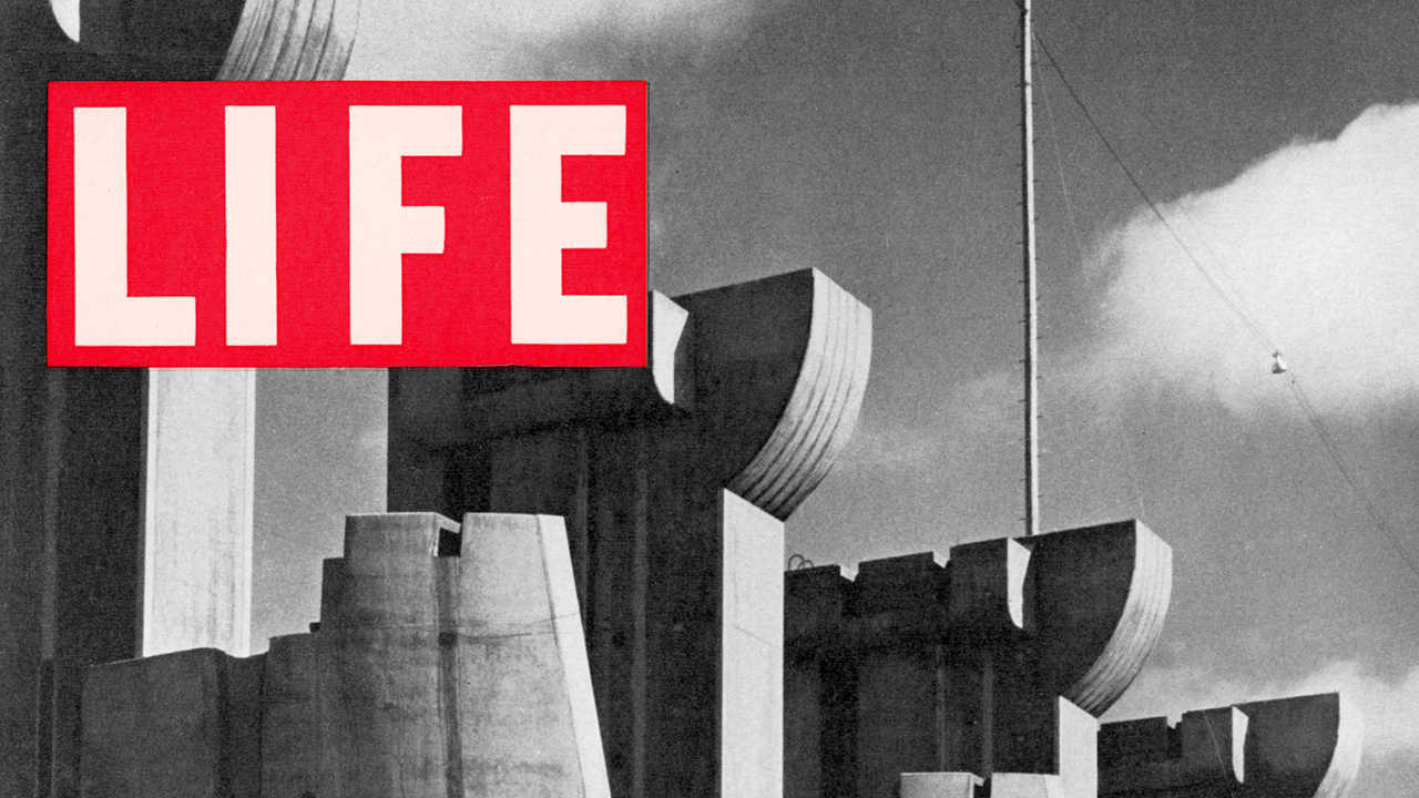 LIFE cover 11-23-1936, First cover w. Ft. Peck Dam.