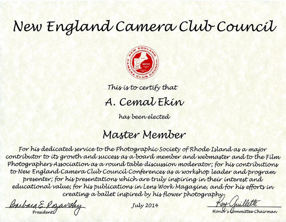 Awarded Master Member (MNEC)