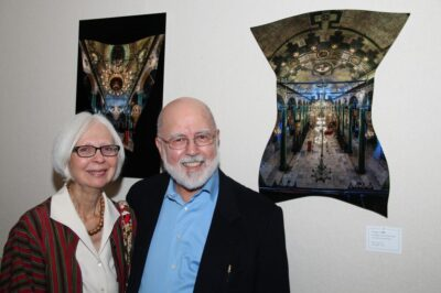 At the exhibit opening with Jan