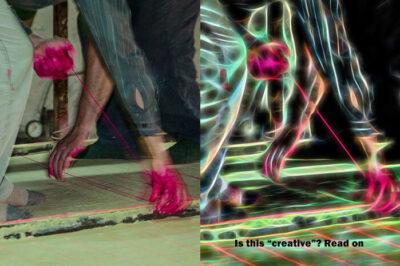 Distortion is not creativity