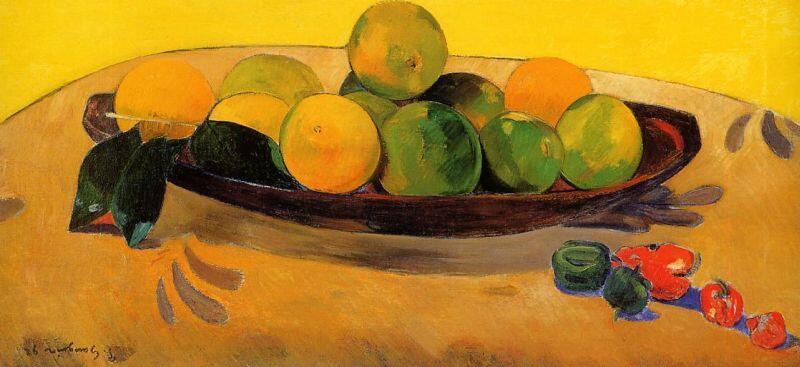 Gauguin, Still Life with Tahitian Oranges