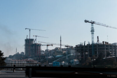 Ever present cranes over Istanbul