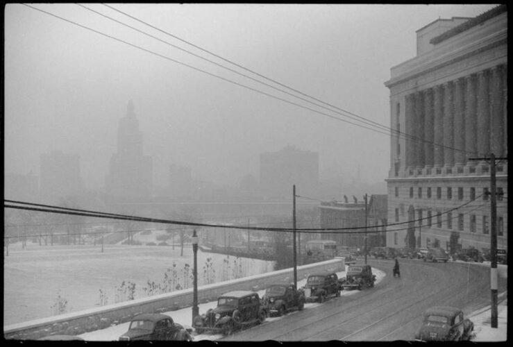 Snow in Providence Jack Delano 1940